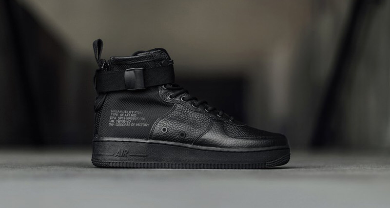 Sf Kicks Nice Available Black Now Af1 Nike Triple Mid 8Txd68qw