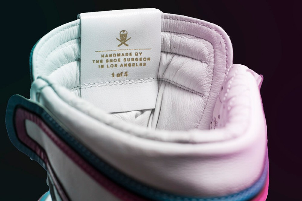 "brand new fb049 27129 ... Miami HEAT x The Shoe Surgeon Custom ""Vice"" Air Jordan 1 ..."