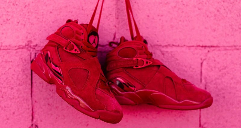 "03803aef2918 Air Jordan 8 ""Valentine s Day""    Another Look"