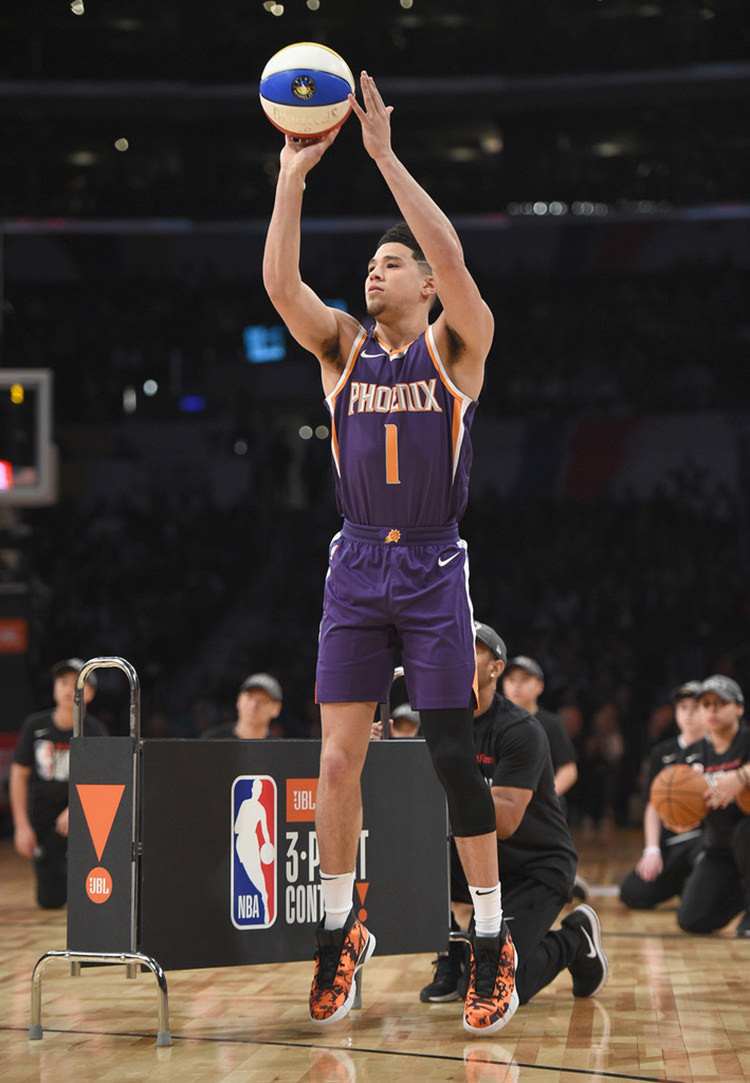 cheap for discount 0e082 bd040 Devin Booker Talks Signature Shoe Hopes & Kobe Having A Pair ...
