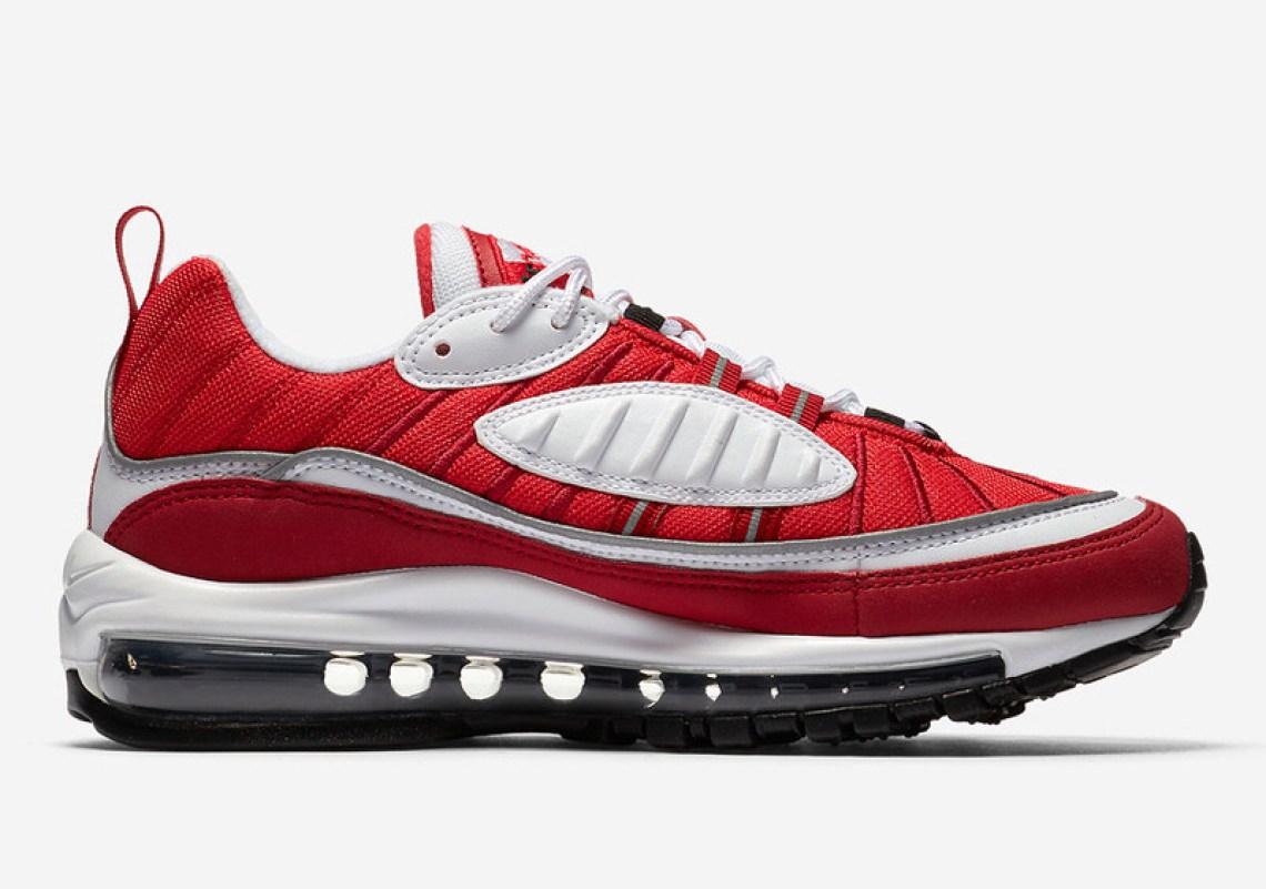 Nike Air Max 98 RedWhite Spring 2018 Nice Kicks