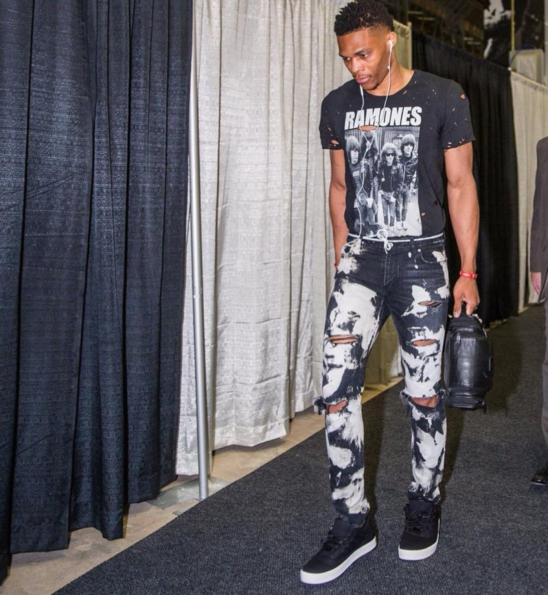 Russell Westbrook didn't just bring back a vintage tee. He brought The Ramones' entire influence in style back into the trend.