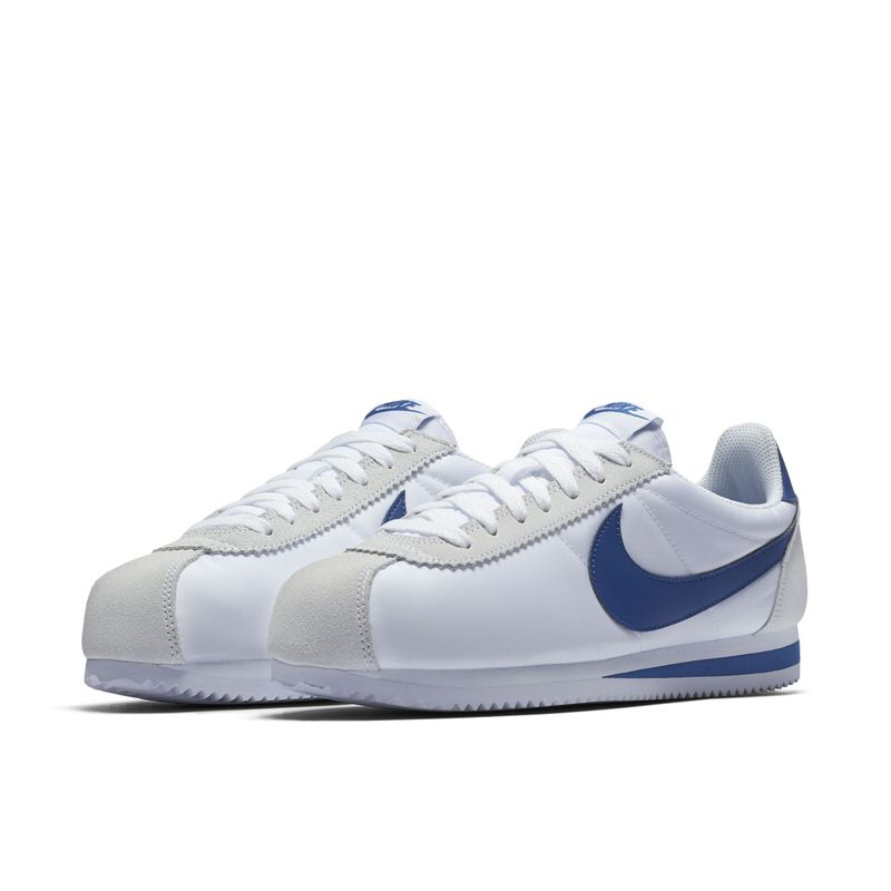 nike cortez bianco classico / palestra blue belle scarpe