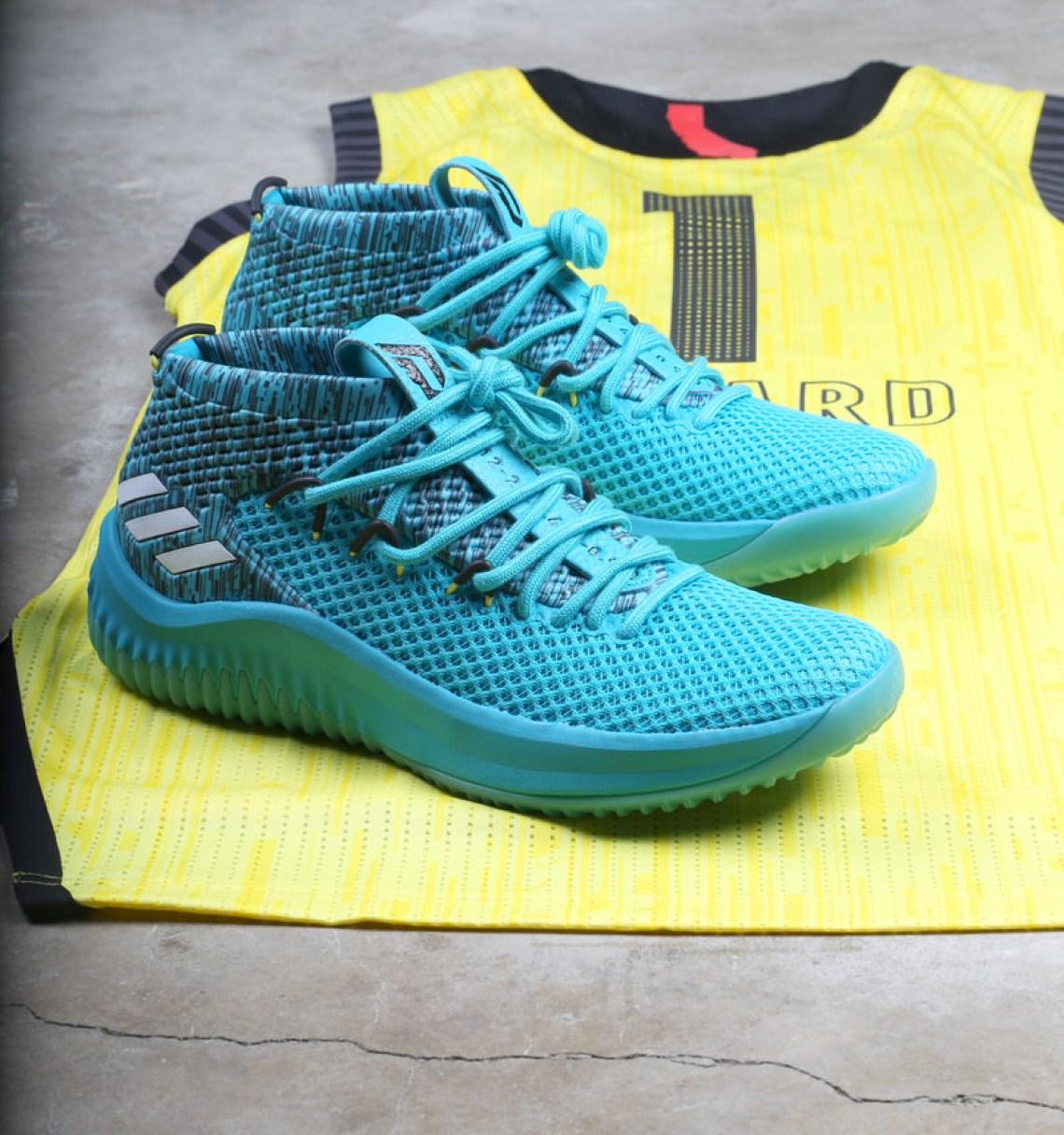 Damian Lillard s Berry Blast-themed Adidas Dame 4 For The Powerade ... 96969173f