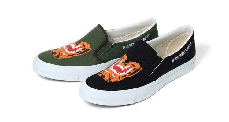 58224b56cb8f BAPE Tiger Slip-On