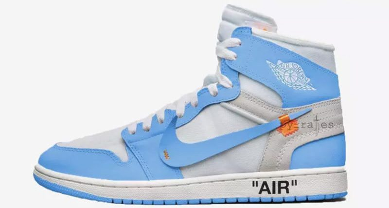 "OFF WHITE x Air Jordan 1 ""Dark Powder Blue"""