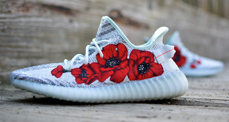 365e58cce Custom adidas Yeezy Boost 350 V2 Gets the Floral Treatment