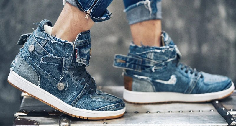 Levis Trucker Jacket Transformed Into Air Jordan 1 Custom