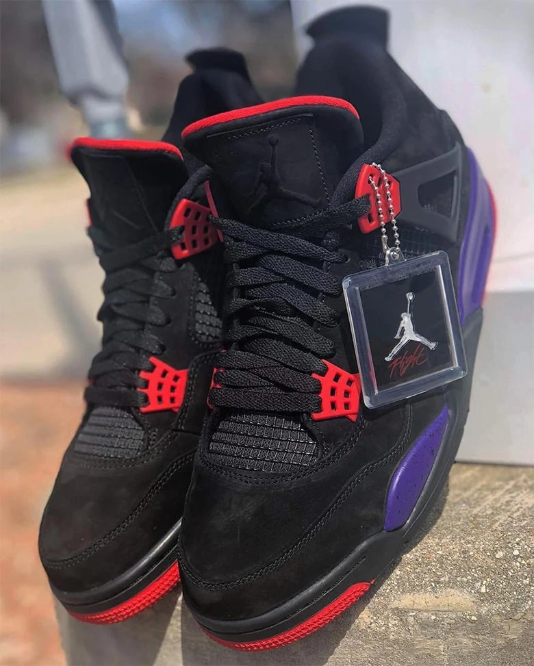 "Air Jordan 4 ""Raptors"" Features Suede Jumpman Logo"