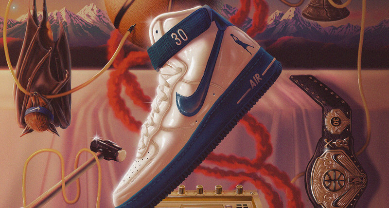 """80397dc1954f7e Rasheed Wallace s Commemorative Nike Air Force 1 High """"Rude Awakening"""" All  Started With An Elbow"""