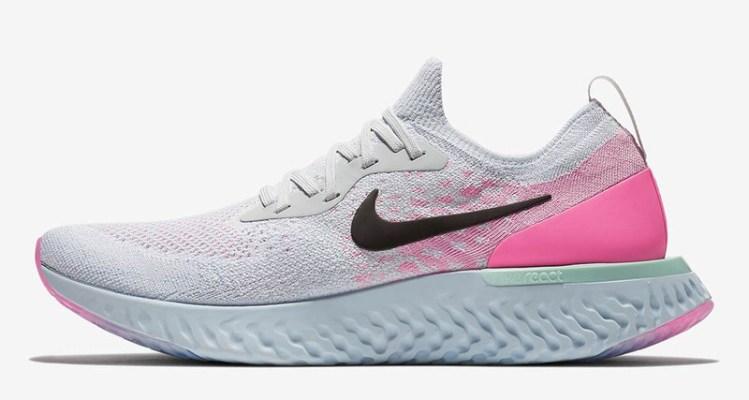 19db59c60bc6a3 Nike Epic React White Pink