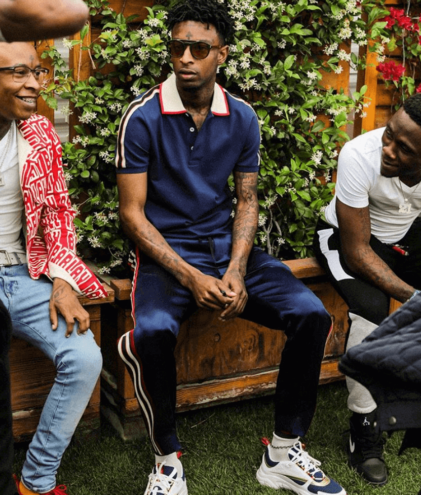 21 Savage in the Dior Sneakers