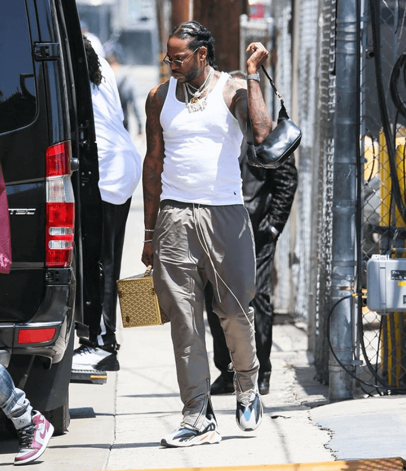 2 Chainz in the adidas Yeezy Boost 700