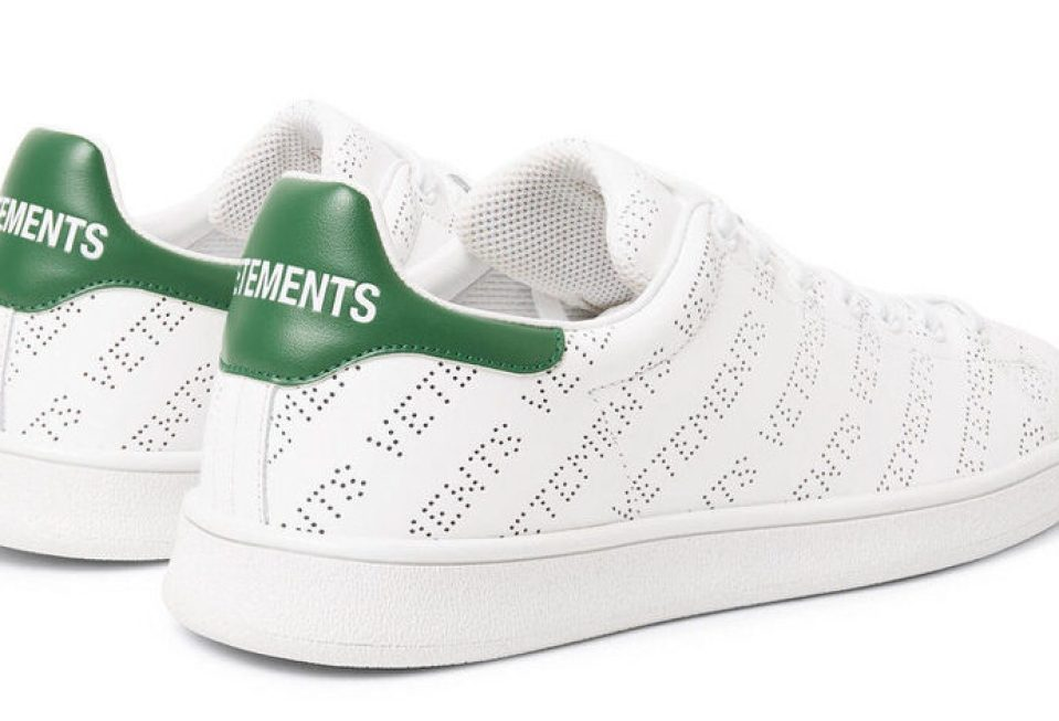 8ef432e7b42 Vetements Perforated Logo Sneakers Vetements Perforated Logo Sneakers