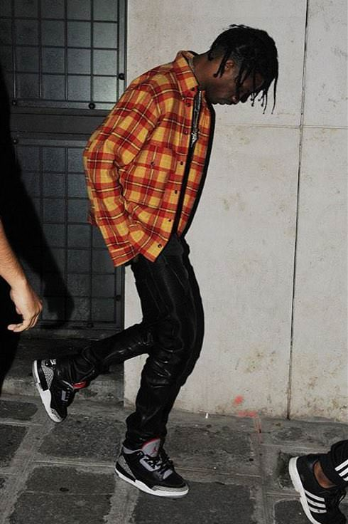 Up your grunge game with oversized flannels, skinny pants, and a pair of Jordan 3s.