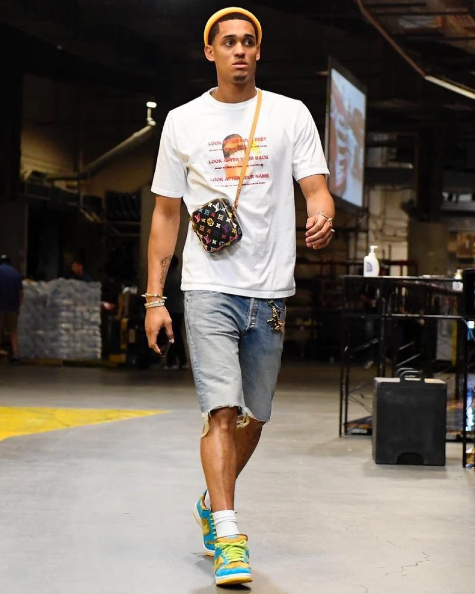 "Jordan Clarkson in the Nike Dunk Low SB Pro ""Papa Bear"""
