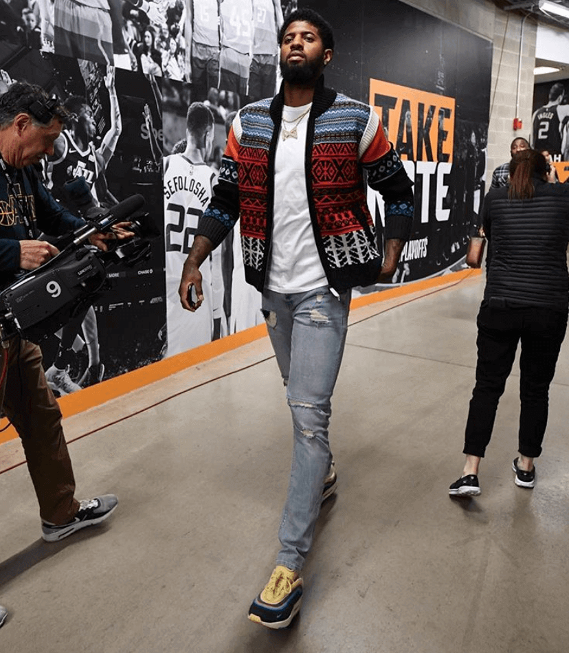 Paul George in the Sean Wotherspoon x Nike Air Max 1/97