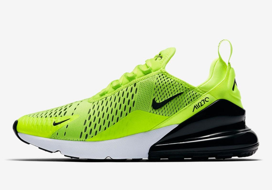 05fce617b3d5c1 Nike Air Max 270 Grey Volt Total Orange Air Jordan Retro 7 Raptors ...