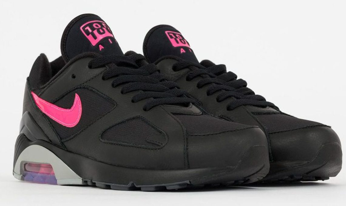 5f61f0ab1b967 The Nike Air Max 180 (Black Pink Grey) is available now at select retailers  like Suppa for €139.90 (~ 165).