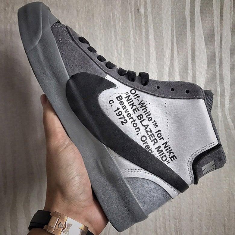 """OFF WHITE x Nike Blazer """"Grey"""""""