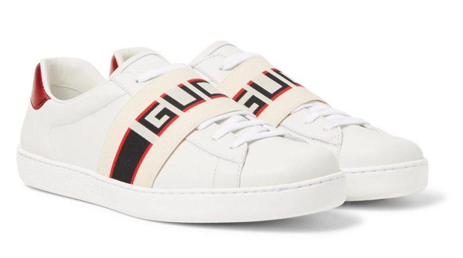 huge selection of 7b459 90bc4 Gucci Logo Print Sneakers