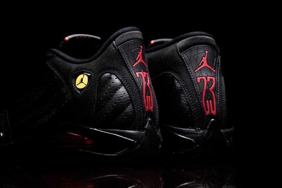 "cb8a345227e2dc Air Jordan 14 ""Last Shot"". Colorway  Black Varsity Red-Black Style     487471-003. Release Date  June 14"