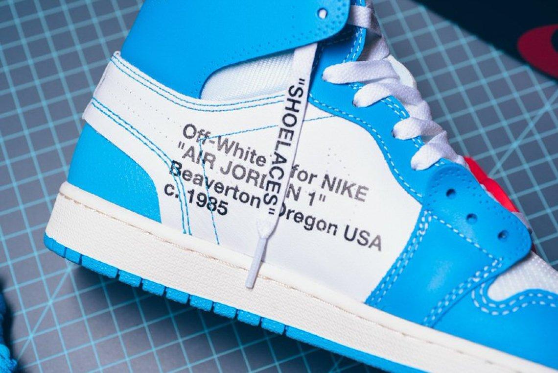 "OFF WHITE x Air Jordan 1 ""UNC"""