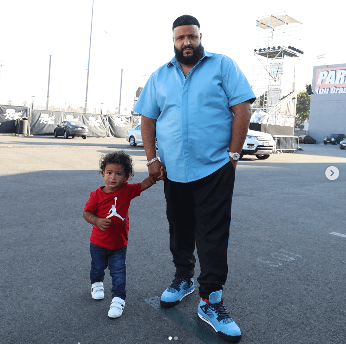 DJ Khaled in the Air Jordan 4 Retro 'Cactus Jack""