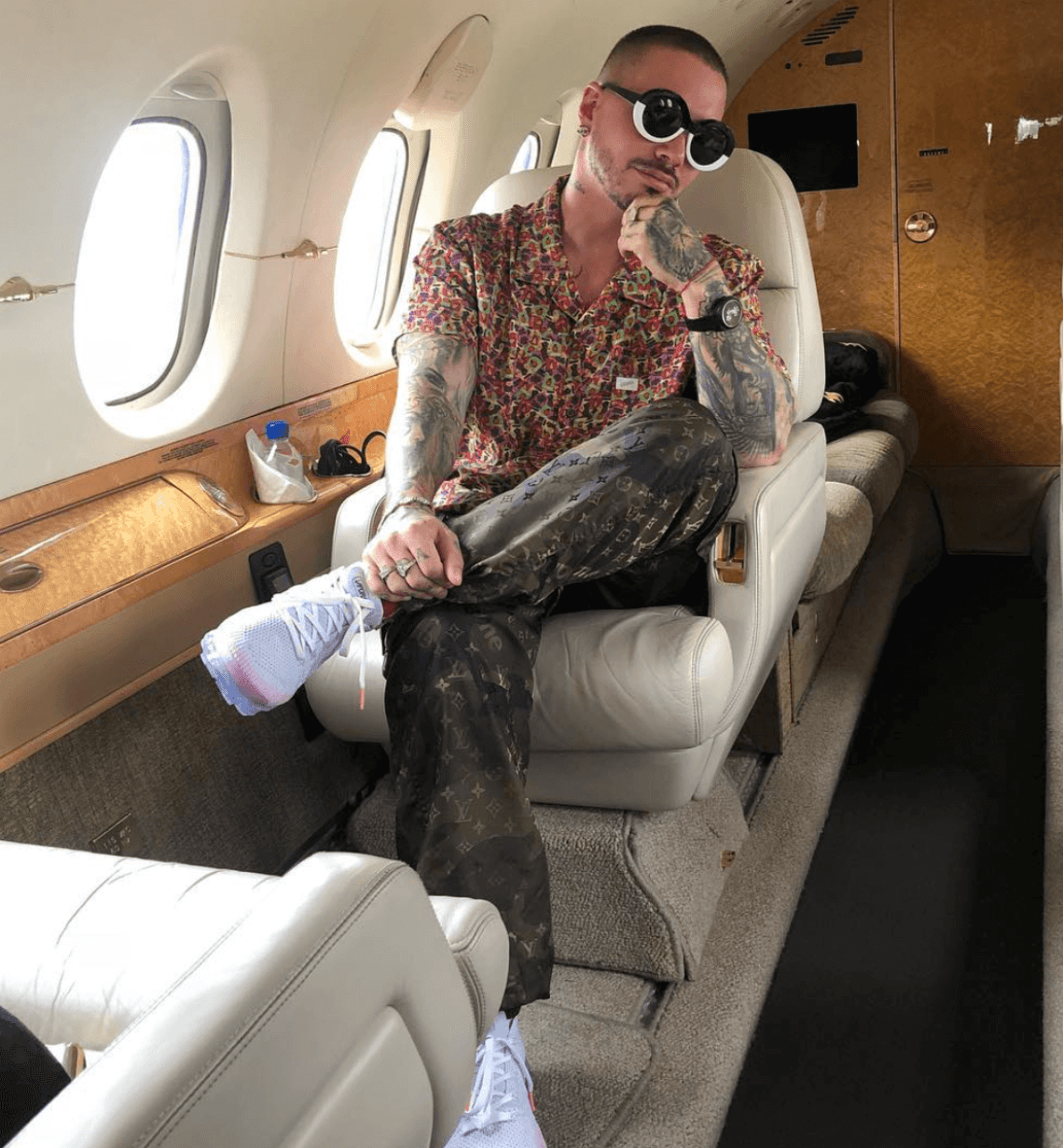 "J Balvin in the Travis Scott x Air Jordan 4 ""Cactus Jack"""