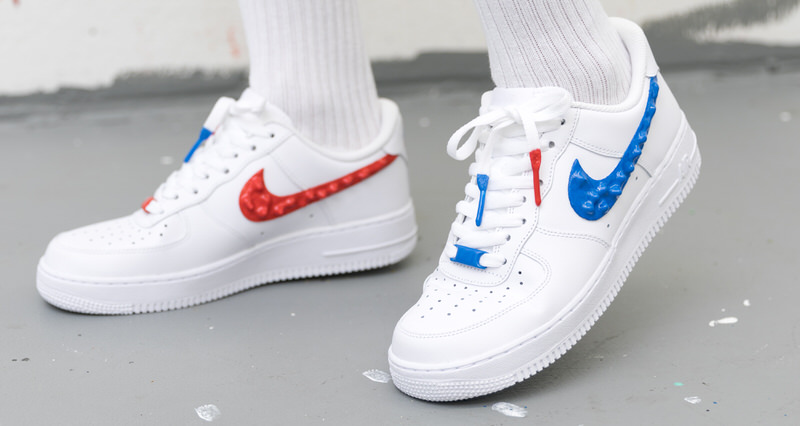 78b33c16fa1 Custom Nike Air Force 1 Drips with Rubber Branding