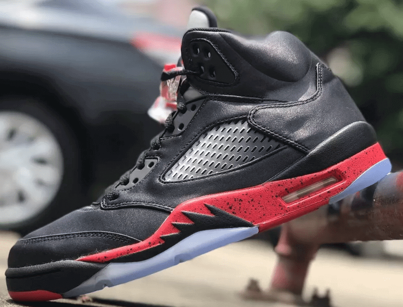 Air Jordan 5 Satin Black Red Holiday 2018  9cb88aa94