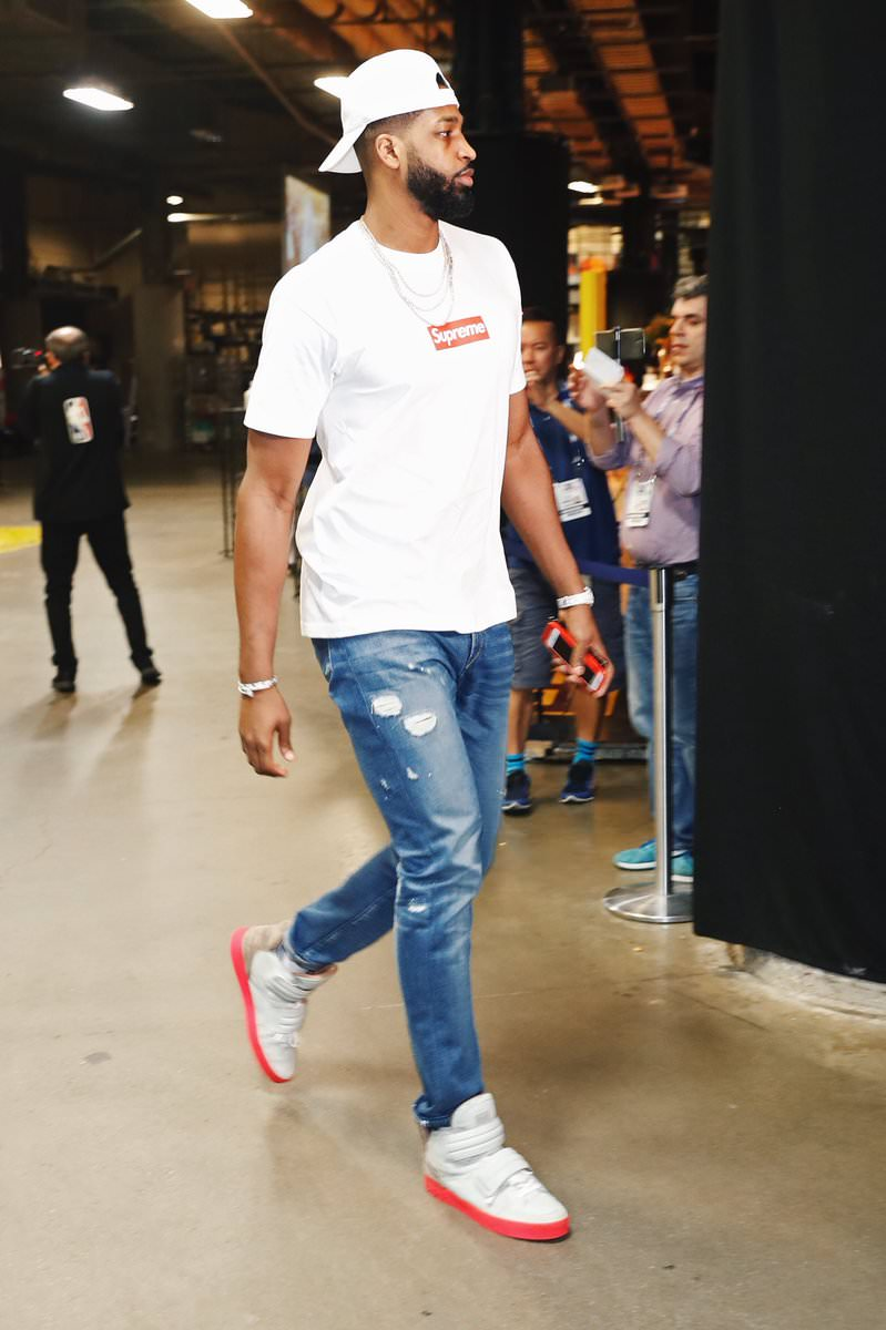 Tristan Thompson in the Kanye West x Louis Vuitton Jasper