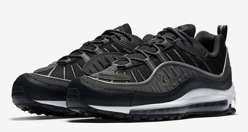 49ded1cf660 Nike Air Max 98 Black Anthracite Drops This Week