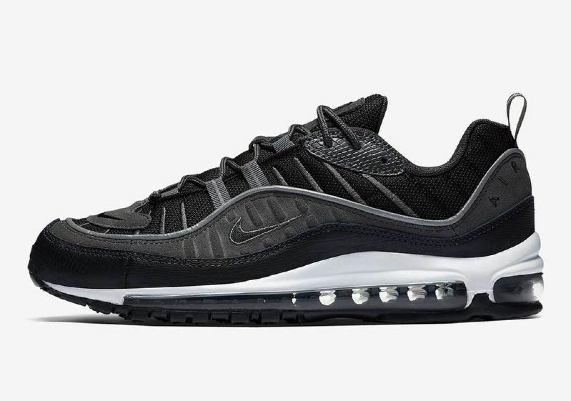 3df0fcdb5bf Nike Air Max 98 Black Anthracite