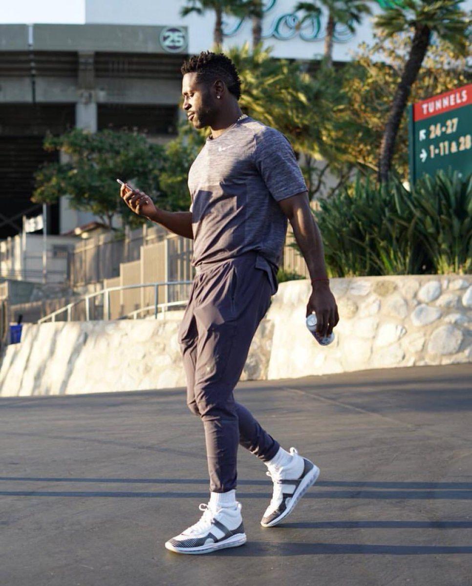 Antonio Brown in the John Elliot x Nike Lebron Icon