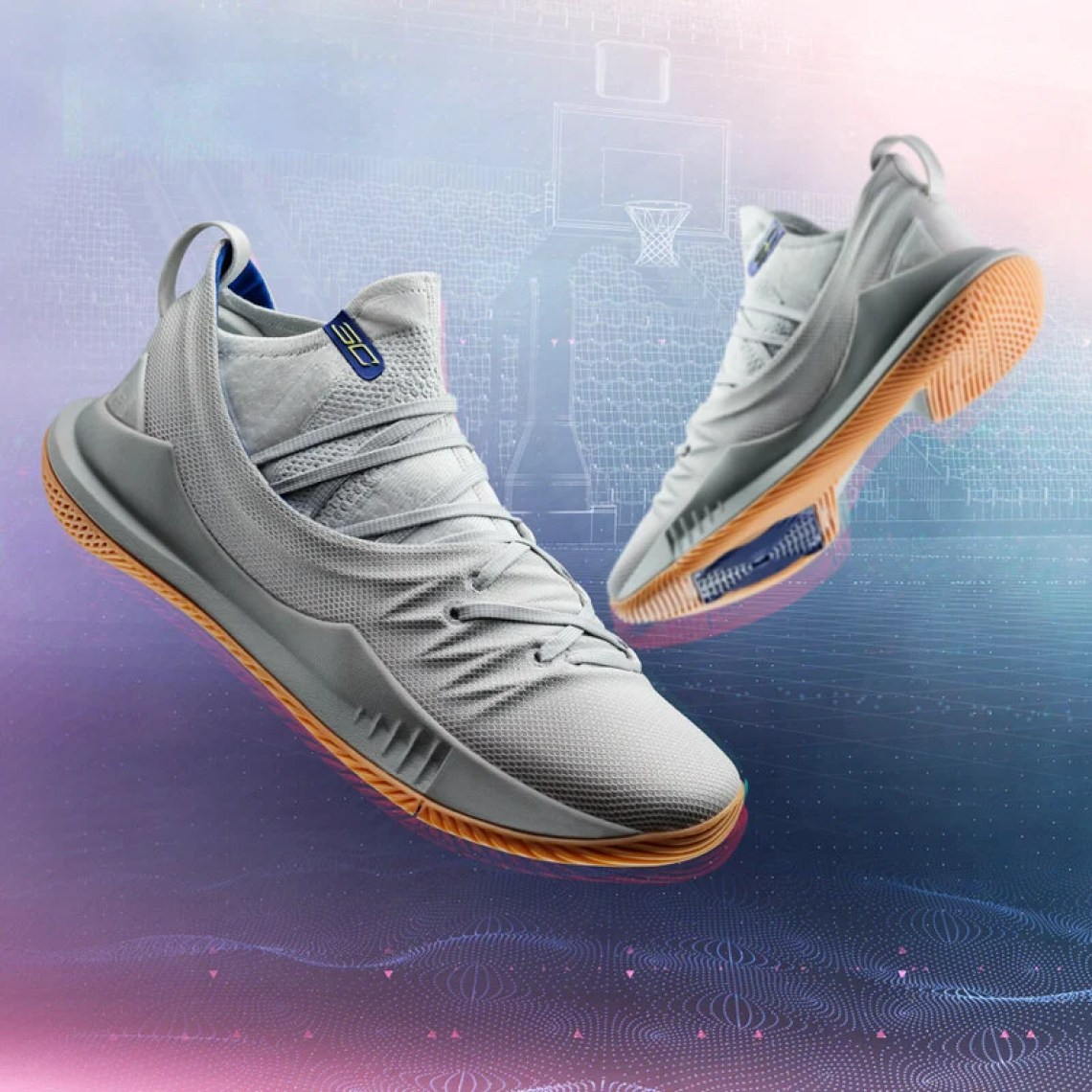 51c0ebc34c5d Under Armour Curry 5 Grey Gum