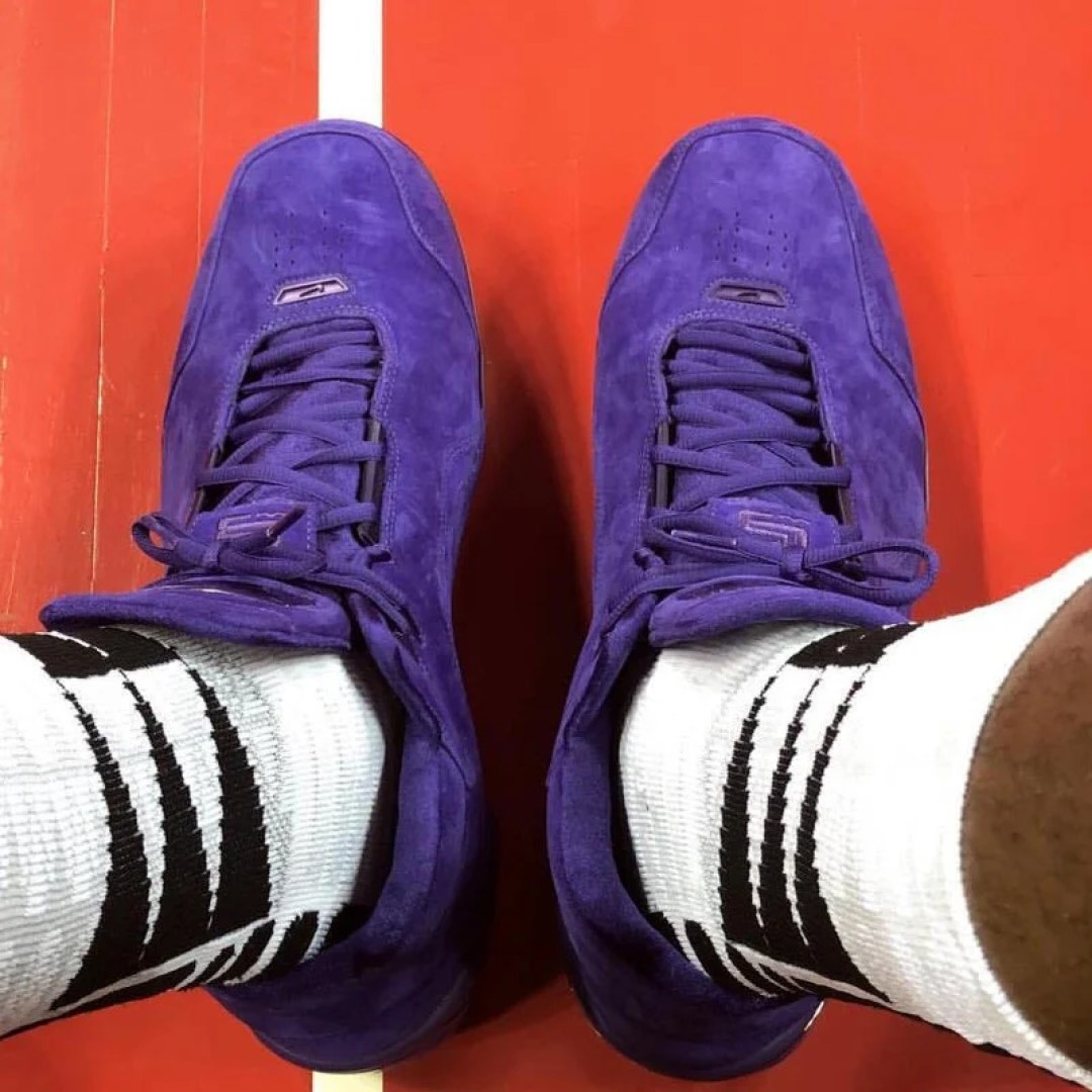LeBron James Wears Purple Suede Nike Air Zoom Generation PE With ... 1c5a86aaf2