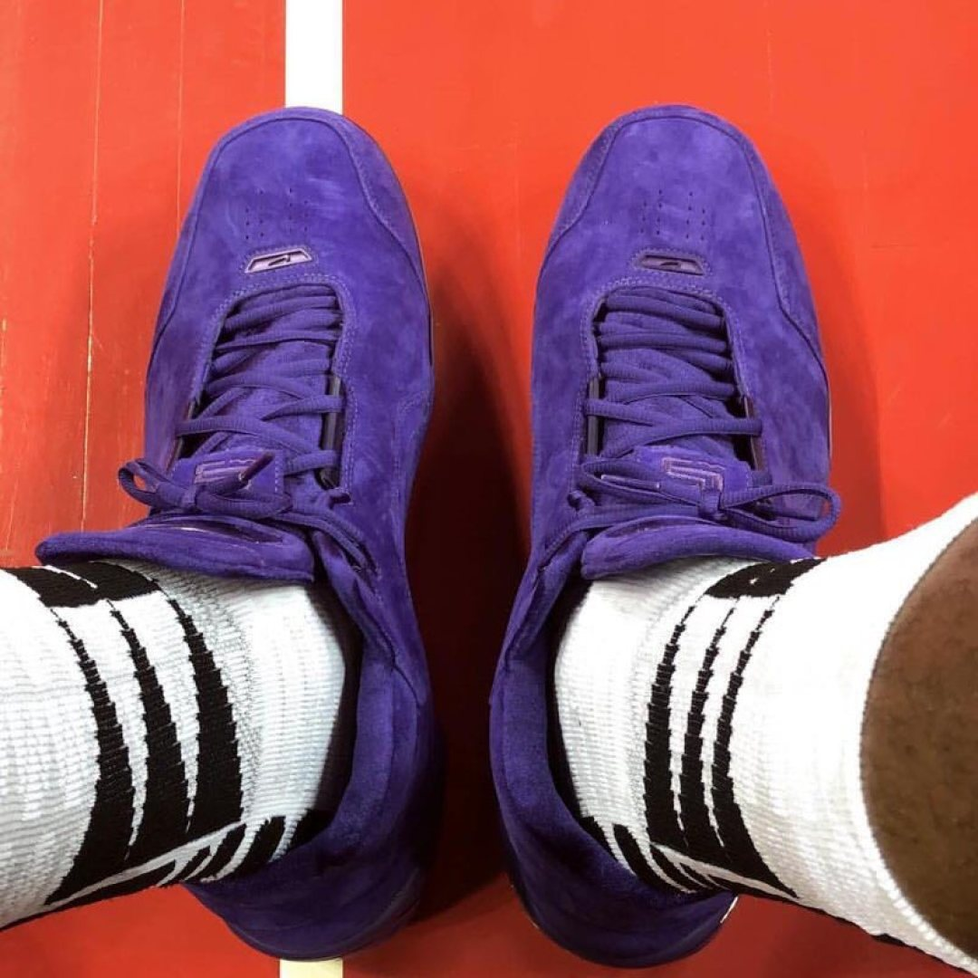 dee2f5bac8a LeBron James Wears Purple Suede Nike Air Zoom Generation PE With ...