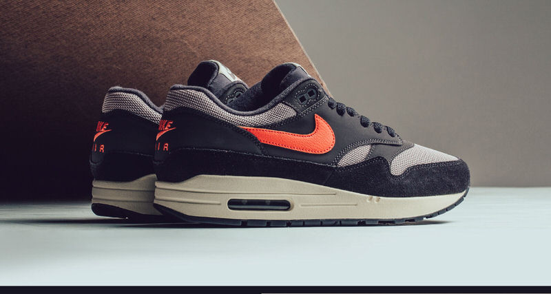 nike air max 1 oil grey wild mango available now. Black Bedroom Furniture Sets. Home Design Ideas