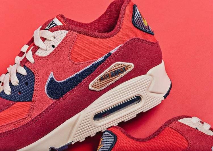 sports shoes 33fca b27b5 ... Nike Air Max 90 Premium SE Varsity Pack