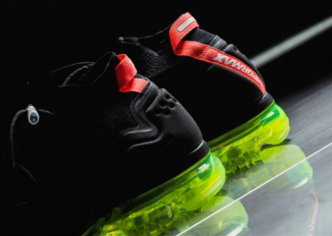 "4e72ffecb60 ... Nike Air VaporMax Flyknit Utility ""Black Volt Bright Crimson"""
