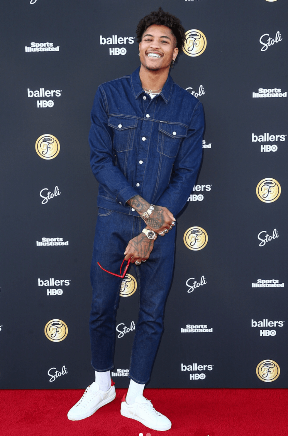 Kelly Oubre Jr in the Raf Simons x adidas Stan Smith
