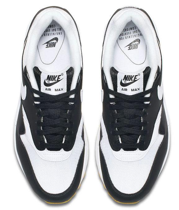 """Nike Air Max 1""""Black/White-Gum Sole"""""""