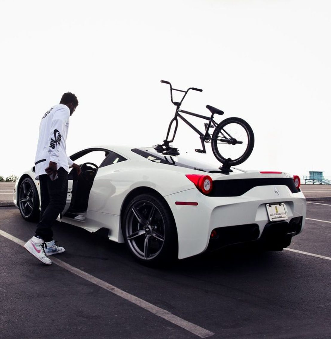 Nigel Sylvester wearing the Nike SB Jordan 1 x Lance Mountain. Roof-rack not included.