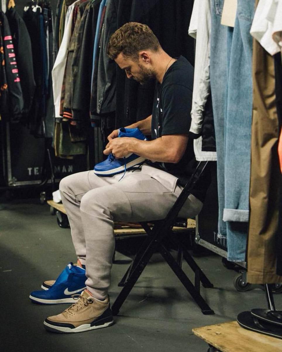 """Justin Timberlake in the Air Jordan 3 Retro JTH """"Bio Beige"""""""