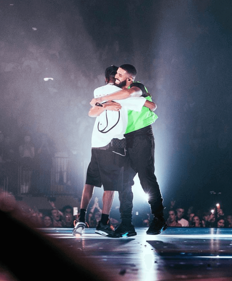 e0622af207f Travis Scott in the Undefeated x Air Jordan 4 & Drake in the Nike Air Max