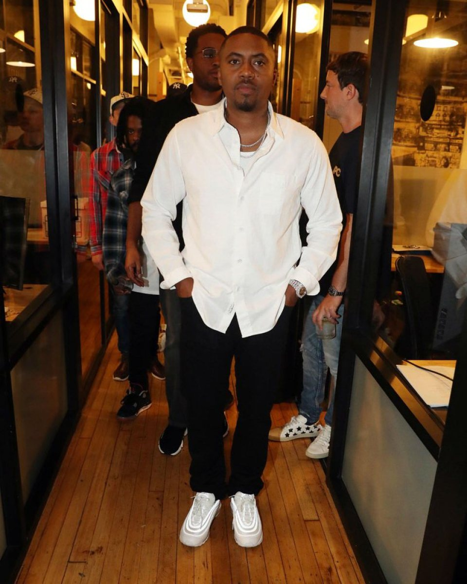 Nas in the Nike Air Max 97
