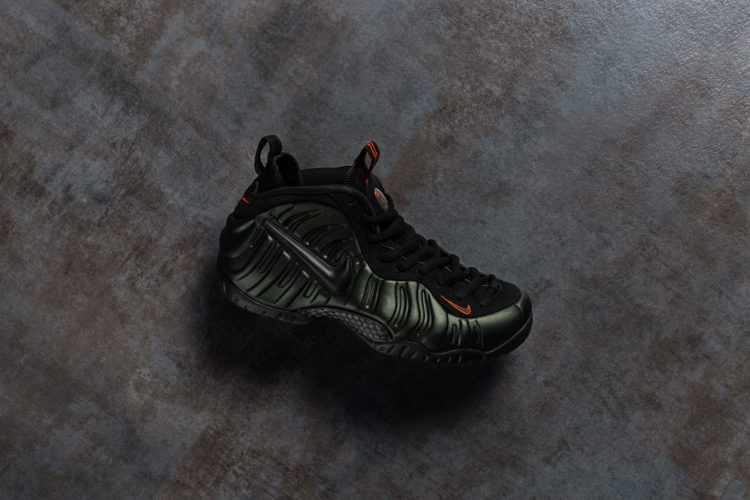 "316956a731ff This version of the Nike Air Foamposite Pro sports a ""Sequoia"" foam shell  and is highlighted by orange accents"