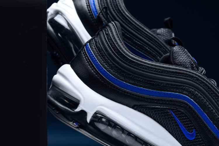 "brand new bb33f 6b1d5 Available now for $160, you can pick up the Nike Air Max 97 ""Anthracite/Racer  Blue"" from Feature. Nike Air Vapormax 2019 Black"