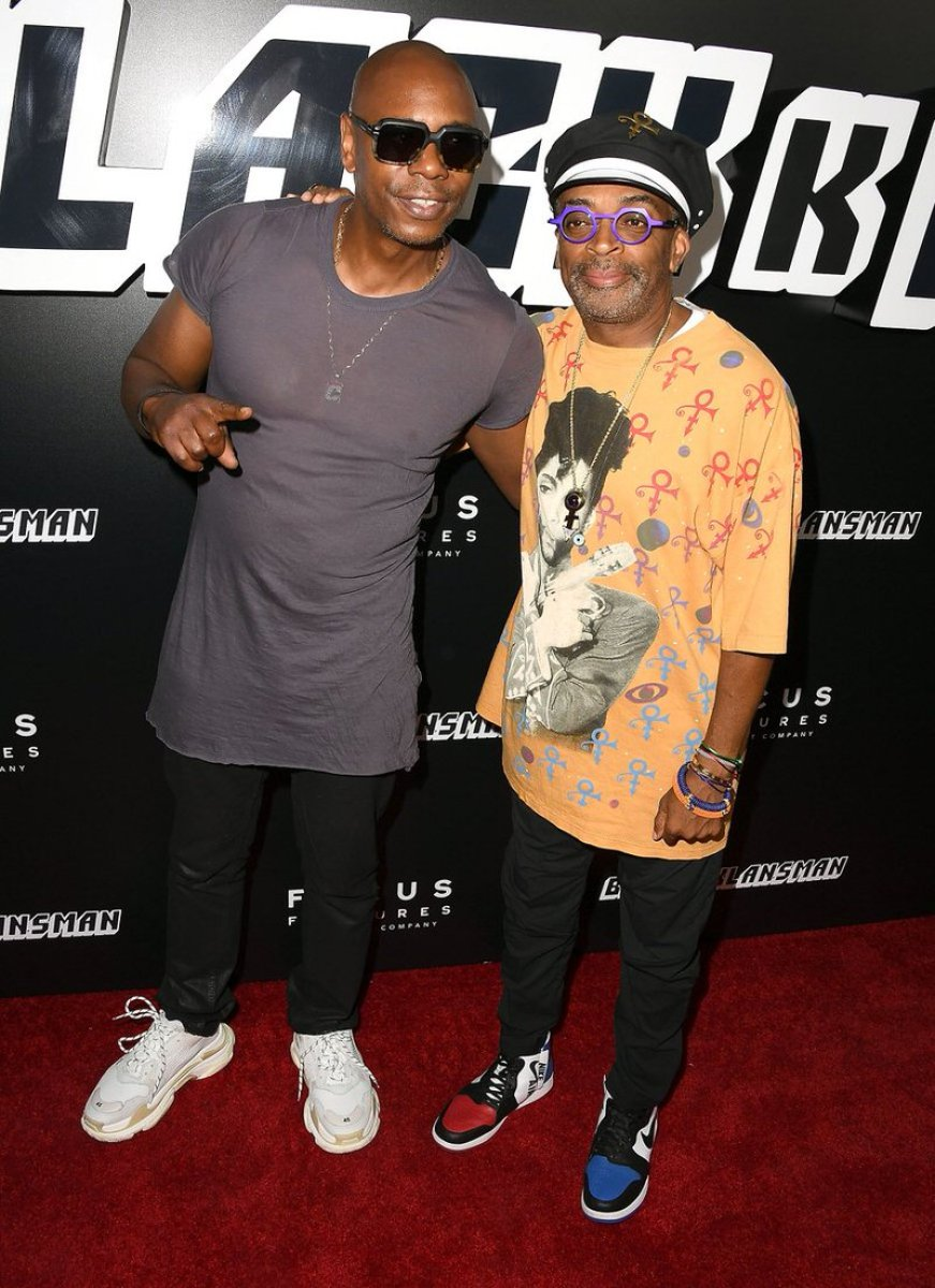 Dave Chappelle in the Balenciaga Triple S & Spike Lee in the Air Jordan 1 Rebel XX